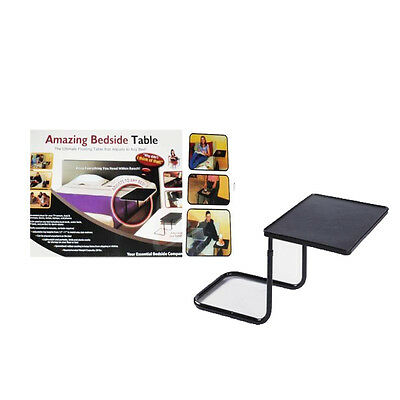 Portable Bedside Folding Table Tray Mate Laptop Computer Jigsaw Games Lamp Mate