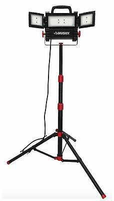 Husky LED Bright Work Light Tripod Stand Portable Telescoping Garage Contractor