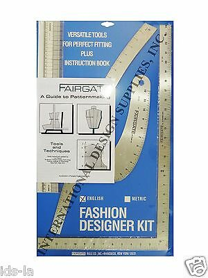 Fairgate 15-102 Fashion Designer's kit Essential Pattern Making Rulers - Metric