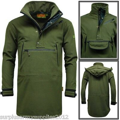 Hunting Stalking Waterproof Smock Army Olive Green Hiking Shooting Jacket