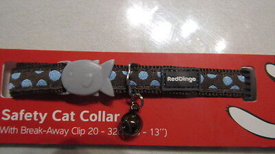 COLLIER CHAT RED DINGO CHOCO POIs BLEU