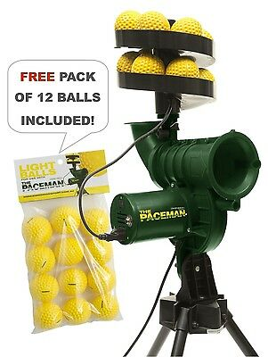 Paceman Cricket Bowling Machine- NEW Version S2- Includes FREE pack 12 balls