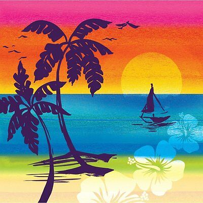 Luau Tropical Aloha Summer Beach Paper Napkins - 16 Count 3 Ply