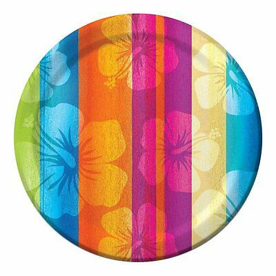 Luau Tropical Aloha Summer Paper Dessert Plates - 8 Count