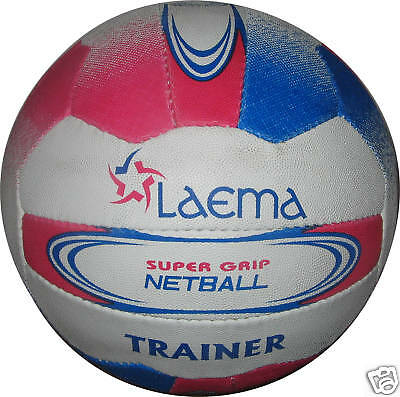 5 X Senior Match Training Netball Super Pin Grain Grip - Trainer