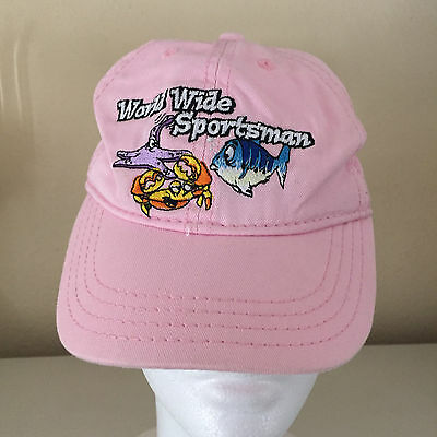 918adfa692474 BASS PRO SHOPS World Wide Sportsman FISHING HAT CAP TODDLER S Girl PINK