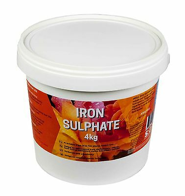 Iron Sulphate Fertiliser 4kg SREDA Fertilizer Weeding Weed Killer Moss Removal