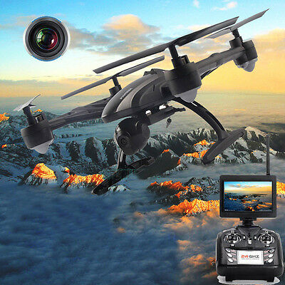 New JD509 FPV 2.4Ghz 4CH RC 6-Axis Quadcopter Drone with 2MP HD Camera RTF UFO