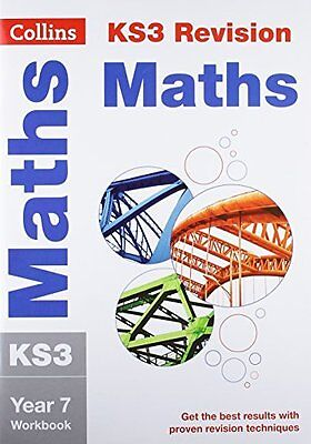 KS3 Maths Year 7 Workbook Collins KS3 Revisio by Collins KS3 New Paperback Book