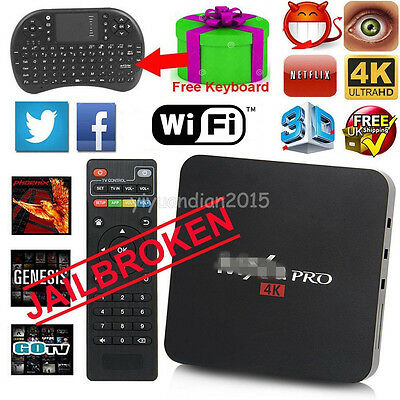 New Smart TV BOX Amlogic S905 Quad Core Android 5.1 4K HD Fully Loaded+ Keyboard