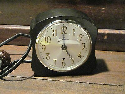 Sessions Black Mid Century electric clock model M