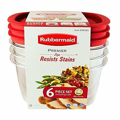 NEW RUBBERMAID PREMIER Food Storage Container 14 cup Size Clear 6
