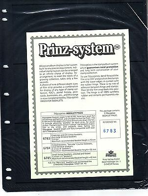 5  Prinz System booklett 3  strip single sided Pages stock sheet