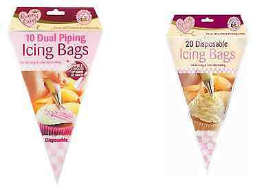Disposable Icing Bags Dual Piping Cake Cupcake Decoration New Queen Of Cakes