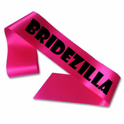 Bridezilla Sash Hen Night Accessories Pink Party Do Bride To Be Funny Gift Cheap