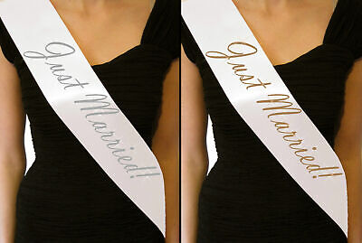 Just Married Sashes Bride to Be accessories Hen Night Party Wedding Reception