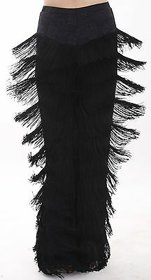 Fringed Latin Salsa Chacha Competition Practice Dance Trousers Performance Pants