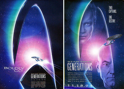 1994's STAR TREK GENERATIONS original rolled 27x41 O/S 2-poster set