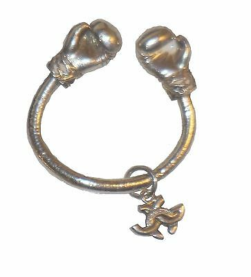 Boxing Glove keyring Sterling Silver.  Keep in the game (life) & never give up!