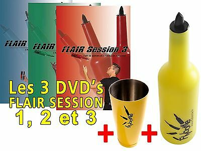 1 Bouteille Flybottle Classic + 1 Shaker + 3 Dvd's Flair Session 1, 2 & 3