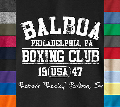 BALBOA BOXING CLUB T-Shirt Rocky Sylvester Stallone Philadelphia Fight Gym Tee