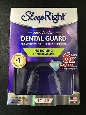 NEW Sleep Right No-Boil Dental Guard Dura Comfort w/ Storage Case + Nasal Aid