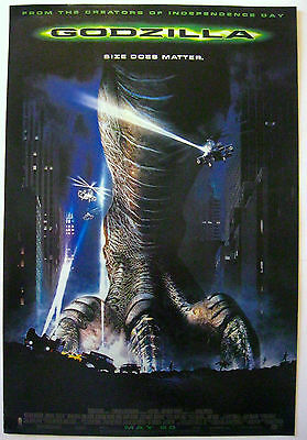 1998's GODZILLA rolled 27x41 heavy stock foot style O/S poster