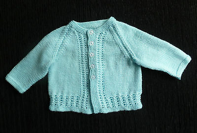 Baby clothes BOY 0-3m blue patterned cardigan hand-knitted COMBINE POST SEE SHOP