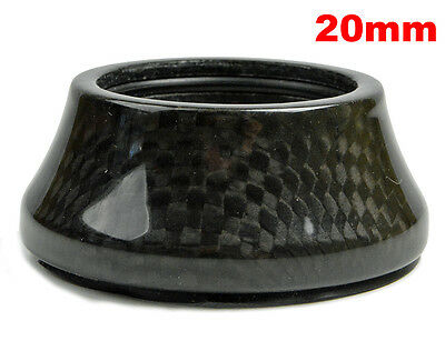 """OMNI Racer WORLDS LIGHTEST Integrated Headset Conical Carbon Spacer 1-1/8"""" 20mm"""