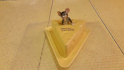Lefton China Covered Cheeze Plate Mouse Cheeze Anyone