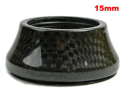 """OMNI Racer WORLDS LIGHTEST Integrated Headset Conical Carbon Spacer 1-1/8"""" 15mm"""