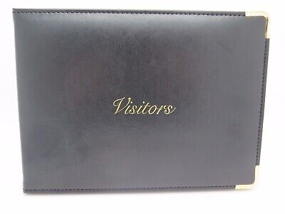 Cumberland Black Vinyl Visitors Book 155 x 210mm 90P 710918 *