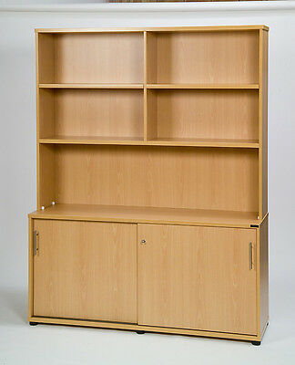 New Commercial Lockable Filing Cabinet Buffet Credenza&hutch Bookshelf*120 Wide