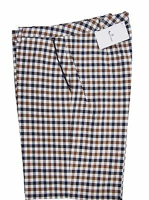 Aquascutum Ladies Golf Shorts Pleated Icon Check