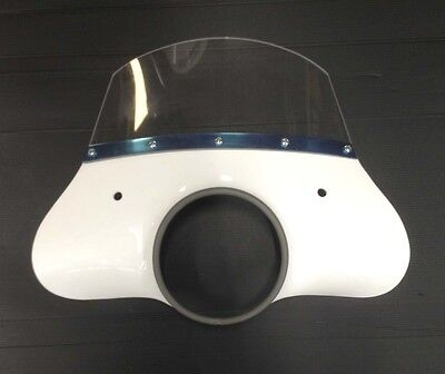 Fly screen white (incl. fixing kit) for Lambretta LI series 3 by Cuppini