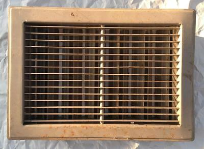 Vintage Salvaged Floor Wall Heat Vent Register Grate Louvered