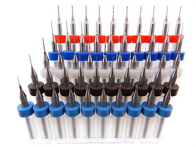 50 pack .2mm .3mm .4mm .5mm .6mm Micro Drill Bit Kit Modeling Watch Repair