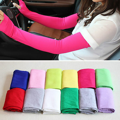 Sport Arm Cooling Sleeves Gloves for UV Sun Protection Cover Driving BasketballZ