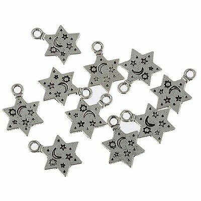 18pcs dark gold tone 3holes connector charms EF0174