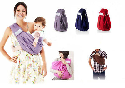 BB057 Infant Newborn Baby Carrier Ring Sling Wrap Swaddling Kids Nursing Cotton