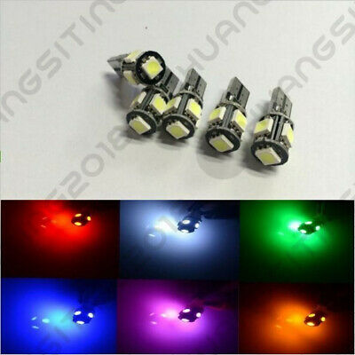 10X CANBUS ERROR FREE White T10 5SMD 5050 LED Interior Light Bulbs 194 168 12V
