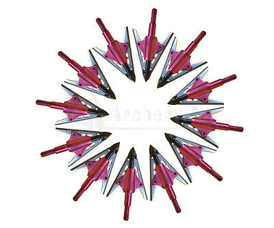 6/12X Bloodrunner Broadheads 2 Blade 100gr Hunting Arrowhead Fit Compound Bow