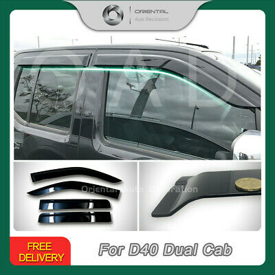 Premium Weather Shields Window Door Visor Weathershield Navara D40 06-15 4pcs SJ