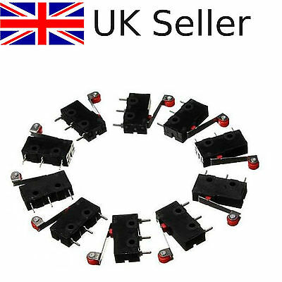 10x Roller Lever Arm Terminal Microswitch Limit Open/Close KW12-3 5A AC.125-250V