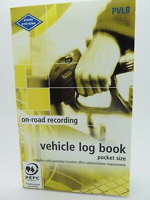 1 x Zions Vehicle Log Book 64P ATO Compliant PVLB^