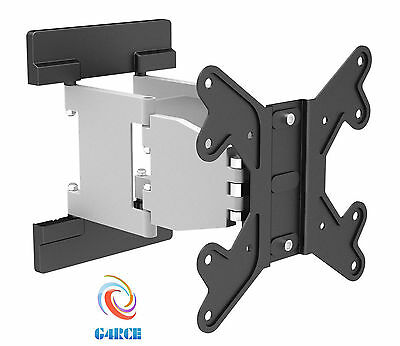 "Slim G4CE Swivel Tilt Wall Mount TV Bracket 24 28 30 32 40 42"" LED LCD Curved"