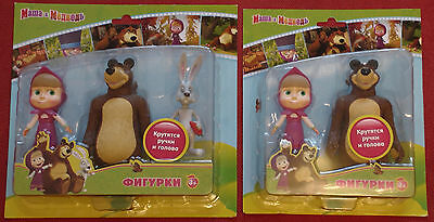 Doll Masha Bear Hare movable toys figures Masha and the Bear Medved Медведь gift