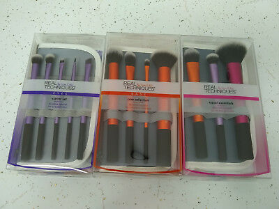 Brush Sets Real Techniques Core Collection Eyes Starter Kit Travel Essentials