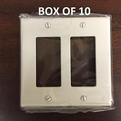 > Box/10  DUAL WALL SWITCH PLATES - White #PC 8011A - NEW - ProtectConnect brand
