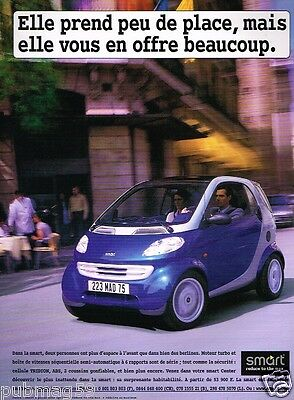 Publicité advertising 1999 Smart